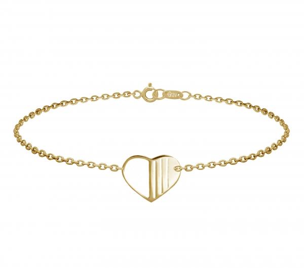 grav heart arany 14k karkötő