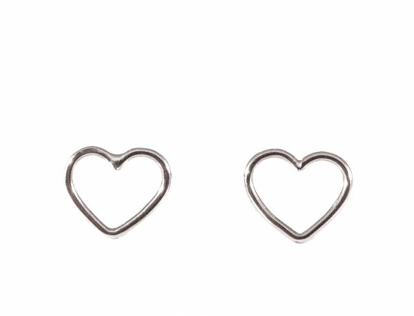 GRAV contour heart Ezüst 925 Fülbevaló