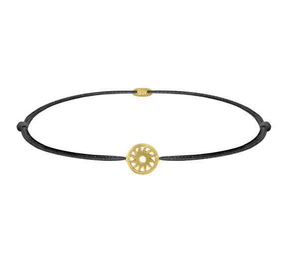 grav sun arany 14k bracelet