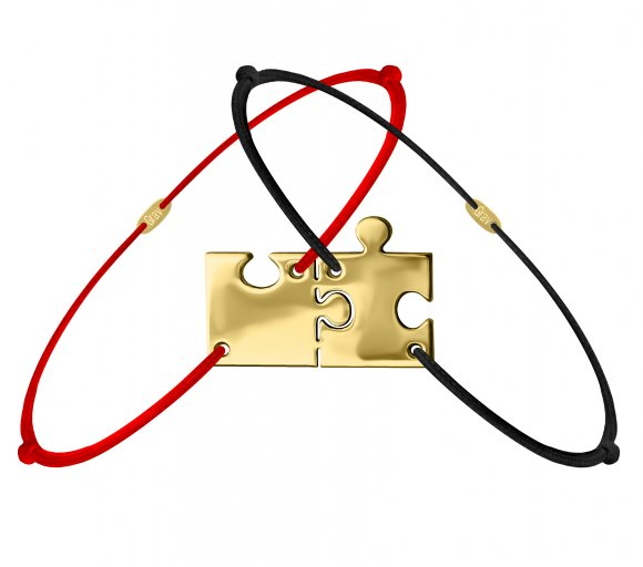 Grav puzzle arany 14k karkötő