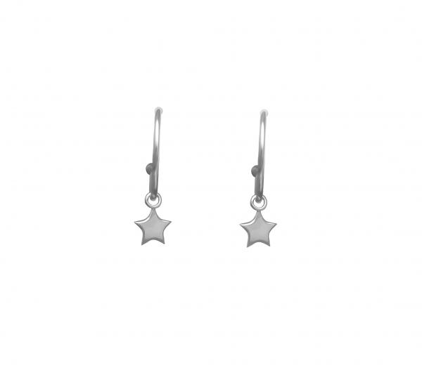 grav star ezüst fülbevaló
