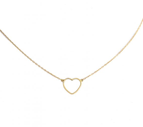 GRAV contour heart Arany 14K Nyaklánc