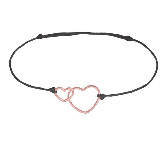 GRAV Double Heart Arany 14K Karkötő