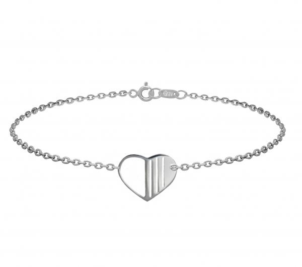 grav heart ezüst karkötő