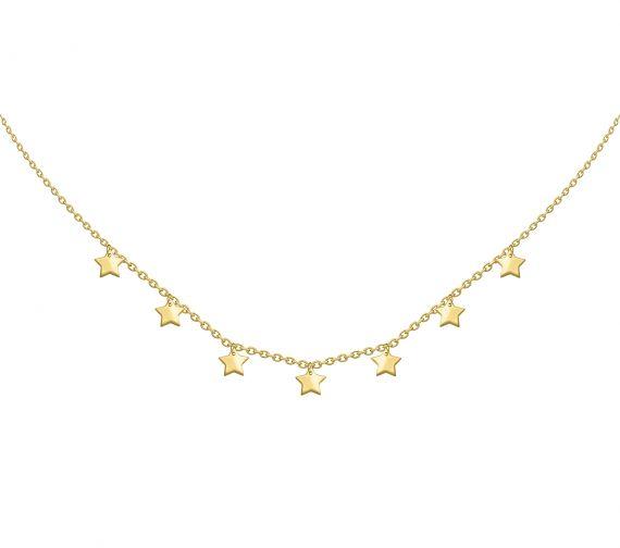 GRAV stars Arany 14K Nyaklánc