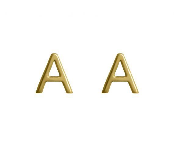 Grav Letter Arany 14k fülbevaló