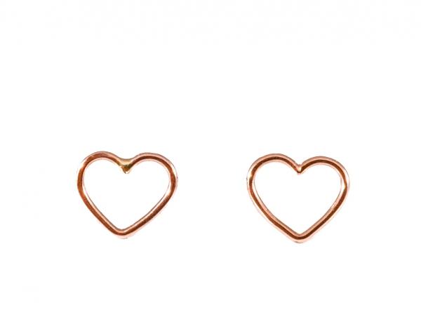 GRAV contour heart Arany 14K Fülbevaló