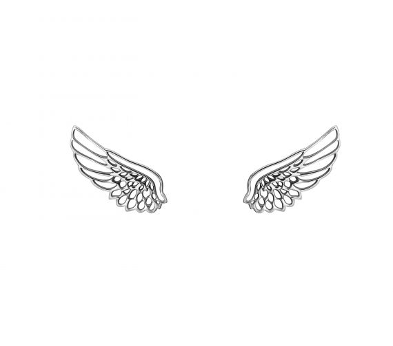 grav angel wing ezüst fülbevaló