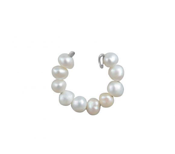 Grav Stream Pearl Earring