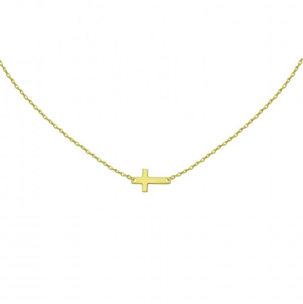 GRAV cross Arany 14K Nyaklánc