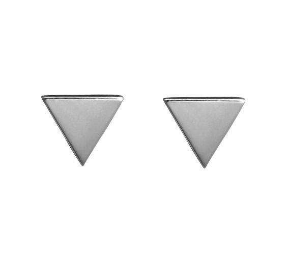 Grav Triangle Ezüst Fülbevaló