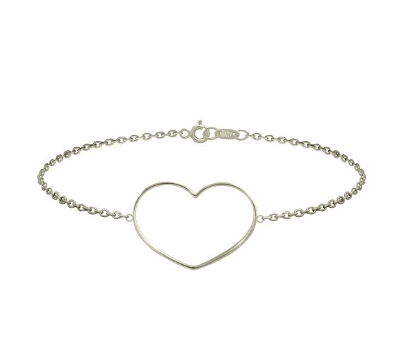 GRAV contour heart Arany 14K Karkötő