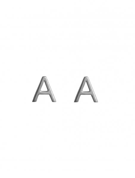 Grav letter ezüst fülbevaló
