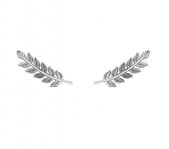 grav leaf ezüst fülbevaló
