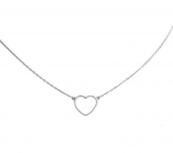 GRAV contour heart Ezüst 925 Nyaklánc